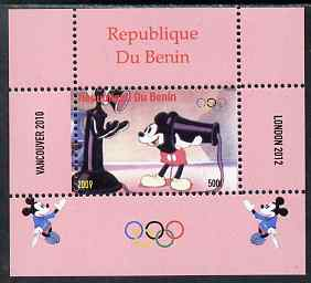 Benin 2009 Olympic Games - Disney Characters #14 individual perf deluxe sheet unmounted mint. Note this item is privately produced and is offered purely on its thematic appeal
