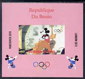 Benin 2009 Olympic Games - Disney Characters #15 individual imperf deluxe sheet unmounted mint. Note this item is privately produced and is offered purely on its thematic appeal