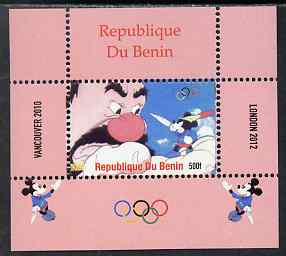 Benin 2009 Olympic Games - Disney Characters #16 individual perf deluxe sheet unmounted mint. Note this item is privately produced and is offered purely on its thematic appeal