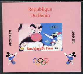 Benin 2009 Olympic Games - Disney Characters #16 individual imperf deluxe sheet unmounted mint. Note this item is privately produced and is offered purely on its thematic appeal