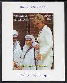 St Thomas & Prince Islands 2004 History of the 21st Century #11 Mother Teresa & Princess Diana imperf m/sheet unmounted mint. Note this item is privately produced and is offered purely on its thematic appeal