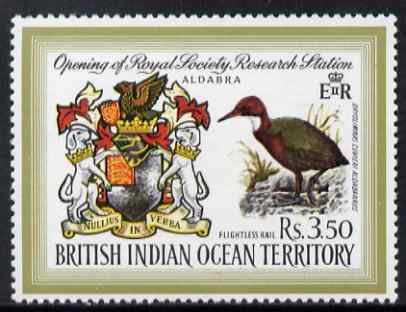 British Indian Ocean Territory 1971 Opening of Royal Society Research Station 3r50 unmounted mint, SG 40