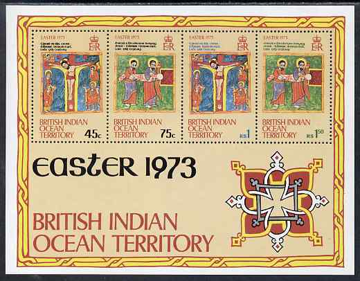 British Indian Ocean Territory 1973 Easter perf m/sheet unmounted mint, SG MS 51