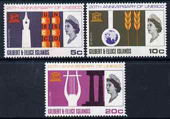 Gilbert & Ellice Islands 1966 UNESCO set of 3 unmounted mint, SG 129-31