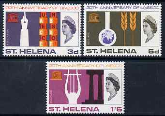 St Helena 1966 UNESCO set of 3 unmounted mint, SG 209-11