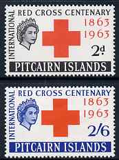 Pitcairn Islands 1963 Centenary of Red Cross perf set of 2 unmounted mint, SG 34-5