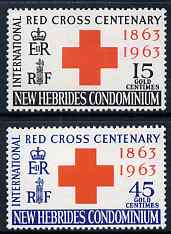 New Hebrides - English 1963 Centenary of Red Cross perf set of 2 unmounted mint, SG 96-7
