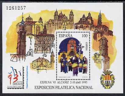 Spain 1993 Exfilna '93 Stamp Exhibition perf m/sheet unmounted mint SG MS 3209