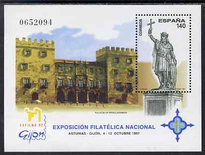 Spain 1997 Exfilna '97 Stamp Exhibition perf m/sheet unmounted mint SG MS 3451