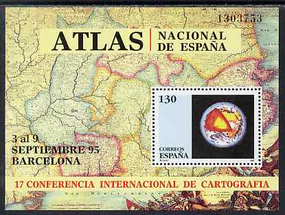Spain 1995 Cartography Conference perf m/sheet unmounted mint SG MS 3351