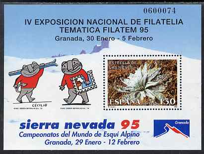 Spain 1995 Filatem '95 Stamp Exhibition perf m/sheet unmounted mint SG MS 3311