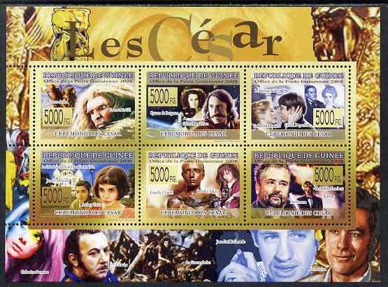 Guinea - Conakry 2009 Ceremonie Des Cesar perf sheetlet containing 6 values unmounted mint