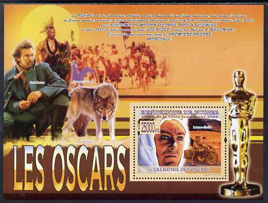 Guinea - Conakry 2009 The Oscars perf s/sheet unmounted mint