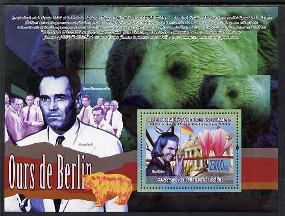 Guinea - Conakry 2009 Bear of Berlin perf s/sheet unmounted mint