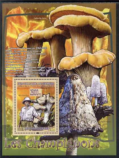 Guinea - Conakry 2009 Fungi & Albert Schweitzer #2 perf s/sheet unmounted mint