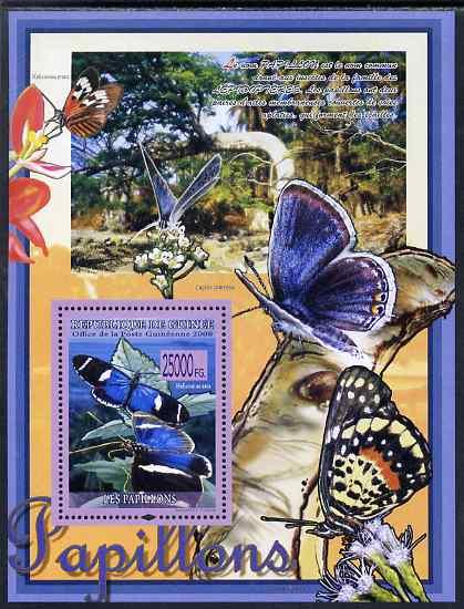 Guinea - Conakry 2009 Butterflies #1 perf s/sheet unmounted mint