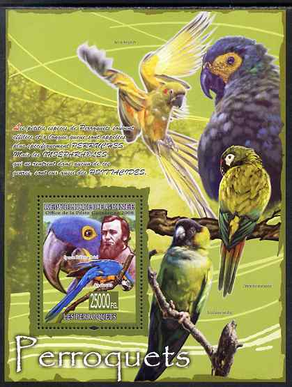 Guinea - Conakry 2009 Parrots (Spencer Fullerton Baird) perf s/sheet unmounted mint