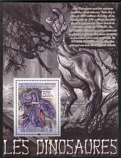 Guinea - Conakry 2009 Dinosaurs #1 perf s/sheet unmounted mint