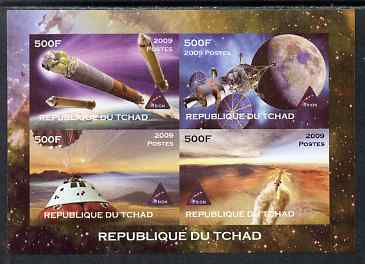 Chad 2009 Space - Orion Mission imperf sheetlet containing 4 values unmounted mint. Note this item is privately produced and is offered purely on its thematic appeal