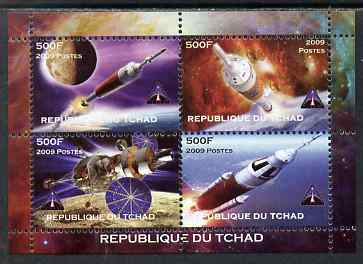Chad 2009 Space - Ares Mission perf sheetlet containing 4 values unmounted mint. Note this item is privately produced and is offered purely on its thematic appeal