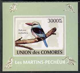 Comoro Islands 2009 Kingfisher imperf s/sheet unmounted mint. Note this item is privately produced and is offered purely on its thematic appeal, it has no postal validity