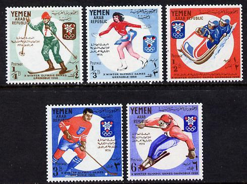 Yemen - Republic 1967 Winter Olympics set of 5 unmounted mint (Mi 619-23A)