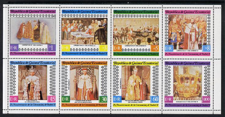 Equatorial Guinea 1978 Coronation 25th Anniversary perf set of 8 unmounted mint (Mi 1419-26A)