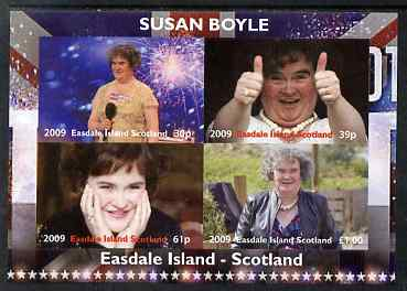 Easdale 2009 Susan Boyle imperf sheetlet containing 4 values unmounted mint