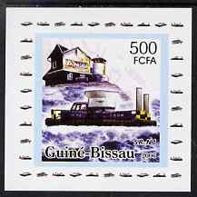 Guinea - Bissau 2006 Ships & Lighthouses #6 - SR-N1 Hovecraft individual imperf deluxe sheet unmounted mint. Note this item is privately produced and is offered purely on...