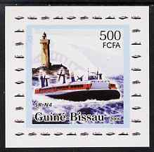 Guinea - Bissau 2006 Ships & Lighthouses #8 - SR-N4 Hovecraft individual imperf deluxe sheet unmounted mint. Note this item is privately produced and is offered purely on...
