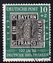 Germany - West 1949 Stamp Centenary 10pf + 2pf fine cds used SG 1035