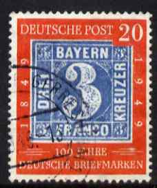 Germany - West 1949 Stamp Centenary 20pf fine cds used SG 1036