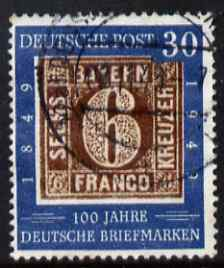 Germany - West 1949 Stamp Centenary 30pf fine cds used SG 1037