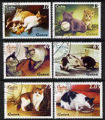 Cuba 2009 Domestic Cats perf set of 6 fine cto used