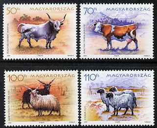 Hungary 2005 Traditional Farm Breeds perf set of 4 unmounted mint SG 4886-9