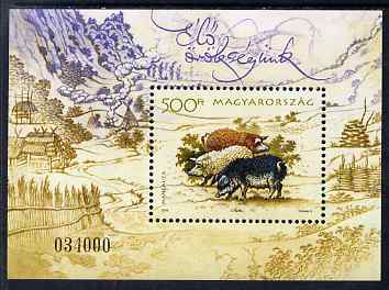 Hungary 2005 Traditional Farm Breeds (Pigs) perf m/sheet unmounted mint SG MS 4890