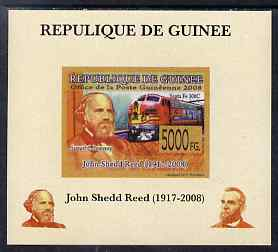 Guinea - Conakry 2008 Atchison, Topeka & Santa Fe Railway - John Shedd Reed & Santa Fe 300C individual imperf deluxe sheet unmounted mint. Note this item is privately produced and is offered purely on its thematic appeal