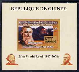 Guinea - Conakry 2008 Atchison, Topeka & Santa Fe Railway - John Shedd Reed & Southern Pacific 8361 individual imperf deluxe sheet unmounted mint. Note this item is privately produced and is offered purely on its thematic appeal