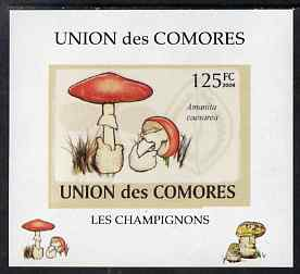 Comoro Islands 2009 Fungi #1 - 125 FC individual imperf deluxe sheet unmounted mint. Note this item is privately produced and is offered purely on its thematic appeal, it has no postal validity