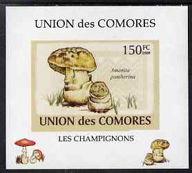 Comoro Islands 2009 Fungi #2 - 150 FC individual imperf deluxe sheet unmounted mint. Note this item is privately produced and is offered purely on its thematic appeal, it has no postal validity