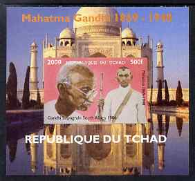 Chad 2009 Mahatma Gandhi #3 individual imperf deluxe sheet unmounted mint. Note this item is privately produced and is offered purely on its thematic appeal