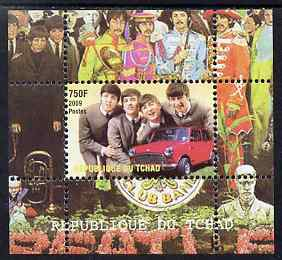 Chad 2009 50th Anniversary of the Mini featuring The Beatles #2 individual perf deluxe sheet unmounted mint. Note this item is privately produced and is offered purely on its thematic appeal