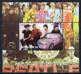 Chad 2009 50th Anniversary of the Mini featuring The Beatles #3 individual perf deluxe sheet unmounted mint. Note this item is privately produced and is offered purely on its thematic appeal