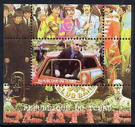 Chad 2009 50th Anniversary of the Mini featuring The Beatles #4 individual perf deluxe sheet unmounted mint. Note this item is privately produced and is offered purely on its thematic appeal