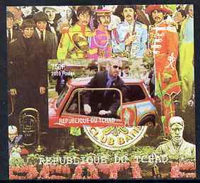 Chad 2009 50th Anniversary of the Mini featuring The Beatles #4 individual imperf deluxe sheet unmounted mint. Note this item is privately produced and is offered purely on its thematic appeal