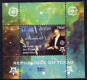Chad 2009 Europa - Year of Astronomy #1 (Humboldt) individual perf deluxe sheet unmounted mint. Note this item is privately produced and is offered purely on its thematic...