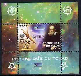 Chad 2009 Europa - Year of Astronomy #4 (Galileo) individual perf deluxe sheet unmounted mint. Note this item is privately produced and is offered purely on its thematic appeal