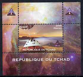 Chad 2009 Space - Orion Mission #3 individual perf deluxe sheet unmounted mint. Note this item is privately produced and is offered purely on its thematic appeal