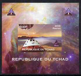 Chad 2009 Space - Orion Mission #3 individual imperf deluxe sheet unmounted mint. Note this item is privately produced and is offered purely on its thematic appeal