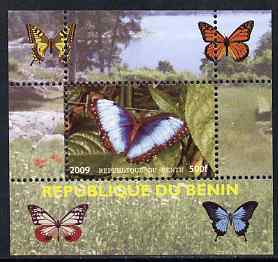 Benin 2009 Butterflies #2 individual perf deluxe sheet unmounted mint. Note this item is privately produced and is offered purely on its thematic appeal